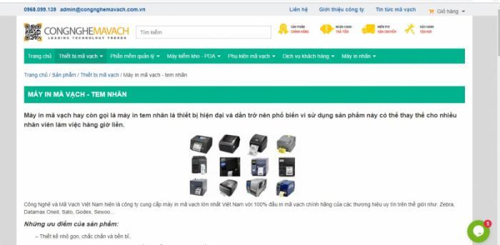 Top 6 Công ty cung cấp máy in mã vạch uy tín và chất lượng ở Hà Nội